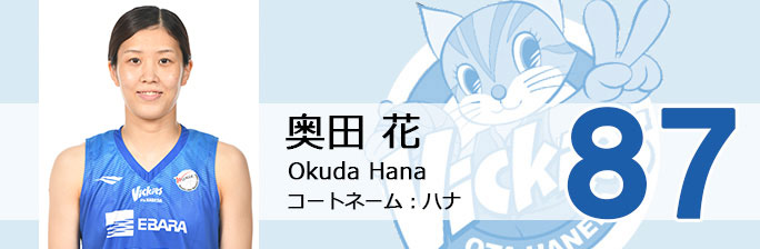 背番号87  奥田 花